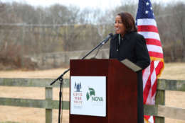 Chair of the Loudoun County Board of Supervisors Phyllis Randall speaks on protecting parks in Loudoun County, Va. (Courtesy Civil War Trust)