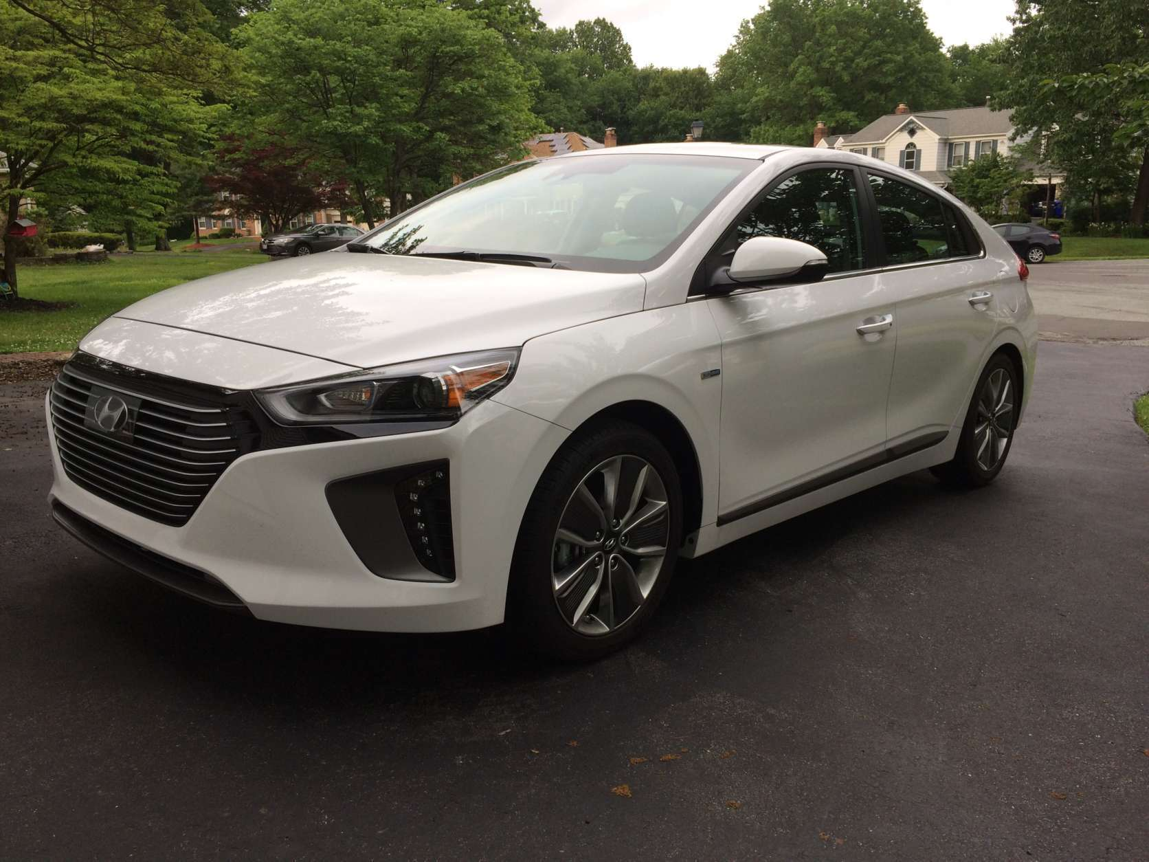The hybrid version of the Hyundai Ioniq is the most cost-effective, with prices starting around $22,500. (WTOP/Mike Parris)