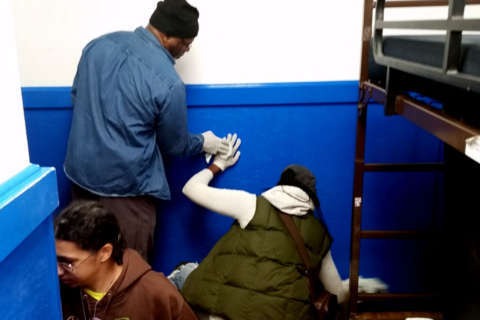 As part of Jewish Community Center's service day, volunteers help out around DC on Christmas