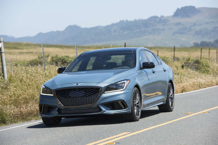 The Genesis G80 Nabbed A Top Safety Pick+ Award. (Courtesy Genesis)