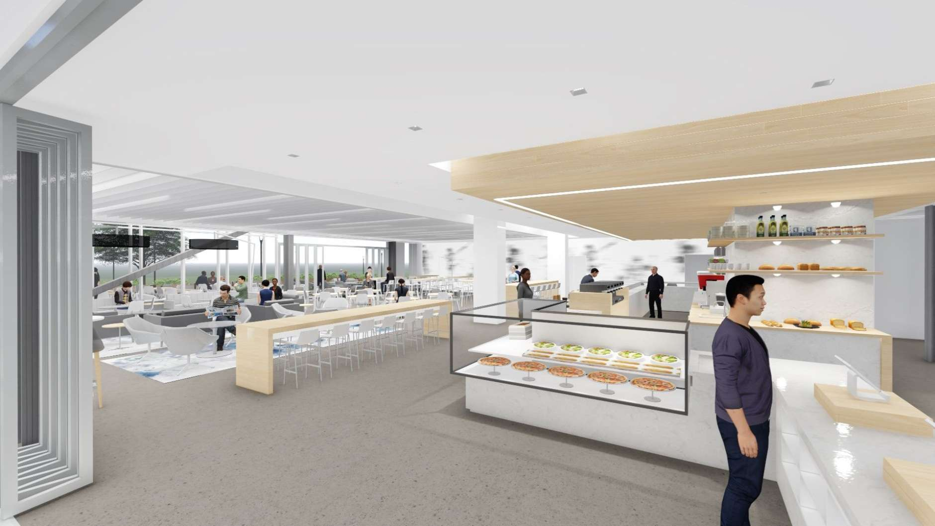 This rendering shows what the interior of celebrity chief Spike Mendelsohn's new restaurant might look like. (Courtesy HKS Architects)