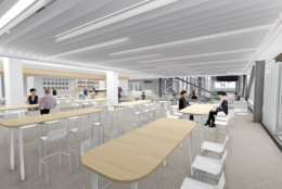 Mendelsohn, whose restaurants include Good Stuff Eatery, We, The Pizza and Santa Rosa Taqueria, is developing a menu for the St. James location that includes burgers, salads, gourmet pizzas and pastas. (Courtesy HKS Architects)