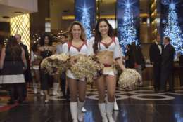 Redskins Cheerleaders led an employee parade at the grand opening of MGM National Harbor in December 2016, (Courtesy MGM National Harbor)