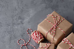 present boxes wrapped in kraft paper