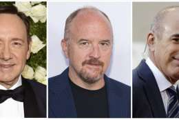 "This combination photo shows, from left, producer Harvey Weinstein, actor Kevin Spacey, actor-comedian Louis C.K., NBC ""Today"" show host Matt Lauer and ""CBS This Morning"" host Charlie Rose. Actors and other public figures began vanishing from the TV screen in October as scores of allegations of sexual misconduct targeted one prominent man after another. n the wake of  Weinstein's disgrace, Spacey was removed from Netflix's ""House of Cards."" Louis C.K. lost a Netflix comedy special and other TV projects. Rose was removed from ""CBS This Morning"" and his own public television interview show was cancelled. Then ""Today"" show host Matt Lauer was fired.  (AP Photo/File)"
