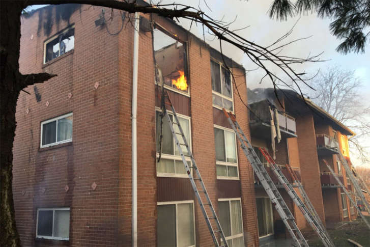 The Fire At Carriage Hill Apartments Extended Into Attic And Roof Courtesy Twitter Prince George S County
