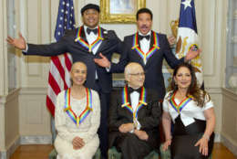 LL Cool J, Lionel Richie, Carmen de Lavallade, Norman Lear and Gloria Estefan receive their Kennedy Center Honors. (Getty Images)