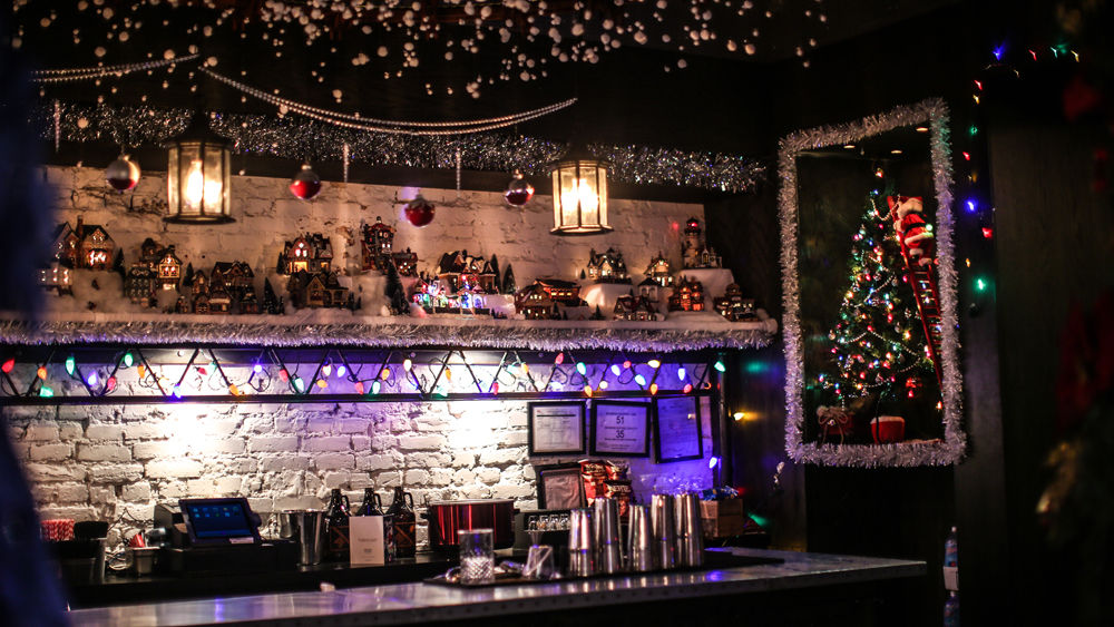You won't feel like you missed out on a white Christmas in this part of the bar. (Courtesy Miracle on 7th Street)