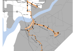 Proposed Potomac Ave. route changes. (Courtesy DDOT)