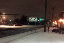 Snowy conditions in Annapolis, Maryland, off Route 50. (WTOP/Nick Iannelli)