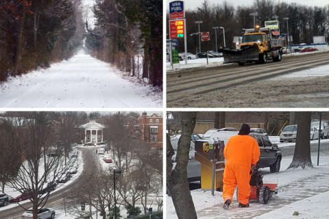 Wintry weather races through DC region