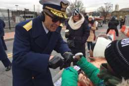 U.S. Coast Guard comes ashore for the MLK Peace Walk and Parade. (WTOP/Kristi King)