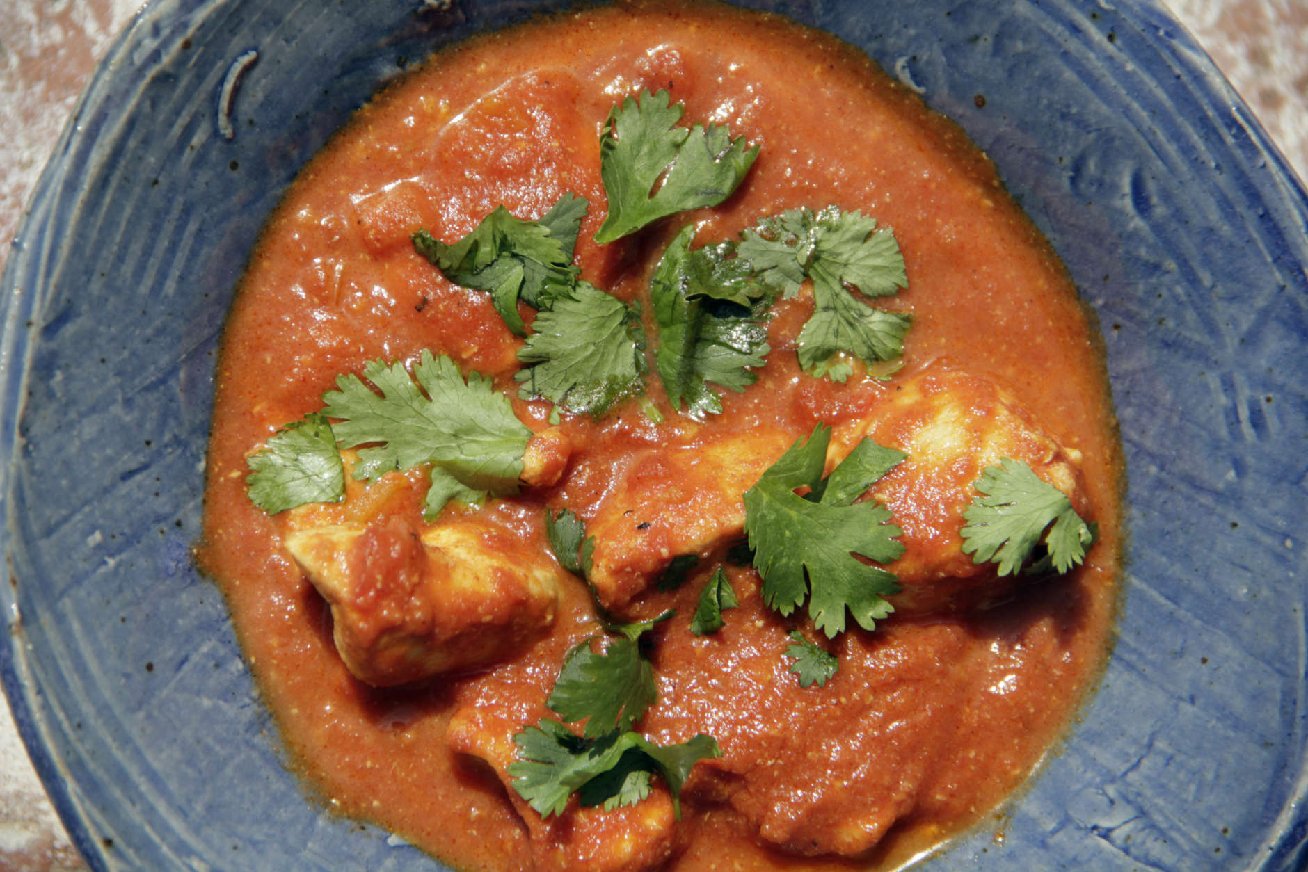 This September 2016 photo shows chicken tikka masala in New York. This dish is from a recipe by Melissa d'Arabian. (Melissa d'Arabian via AP)
