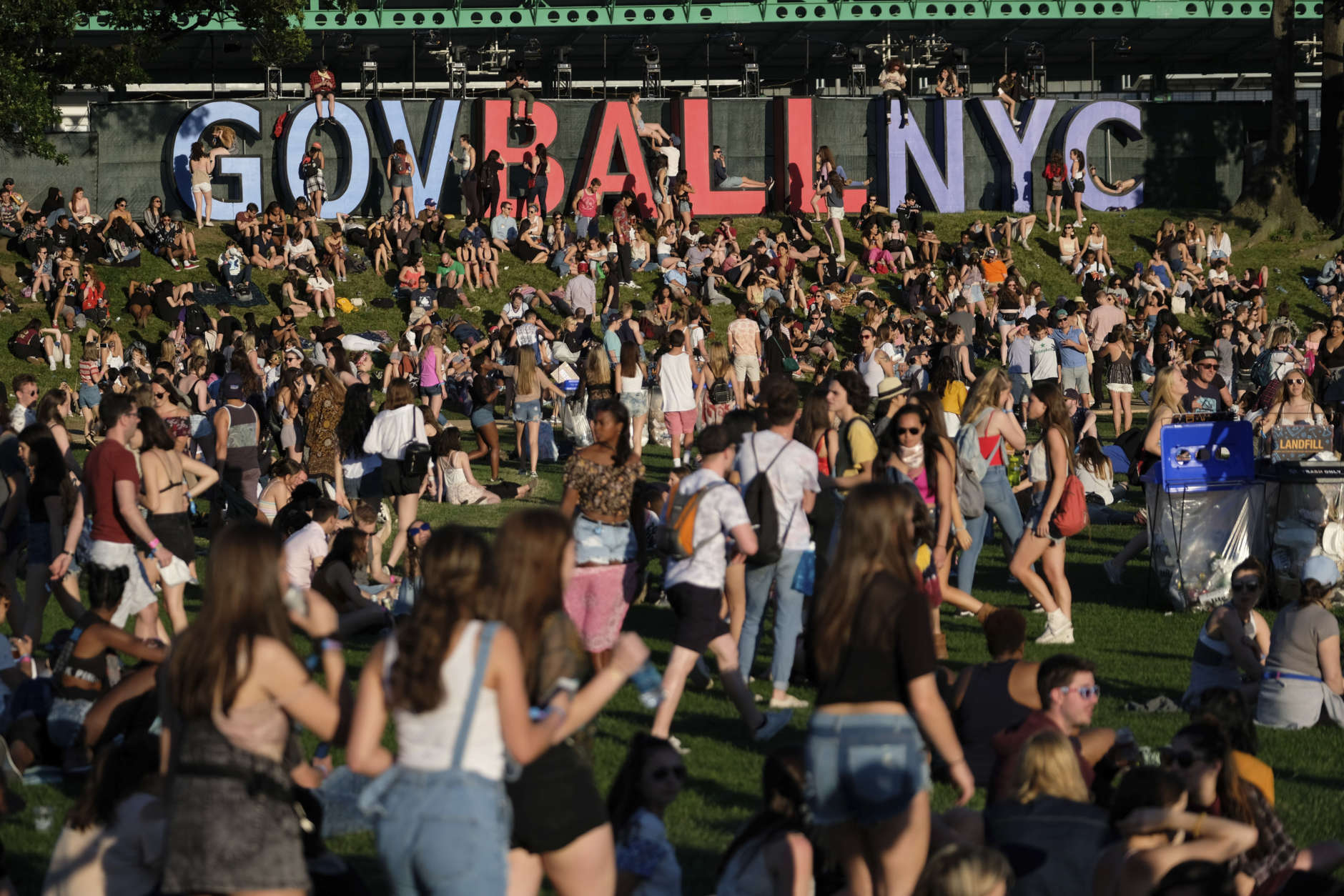 Concert goers are seen on day one of the Governors Ball Music Festival on Friday, June 2, 2017, in New York. (Photo by Charles Sykes/Invision/AP)