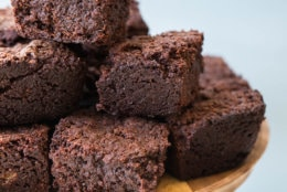 This undated photo made available in August 2018 shows Mexican hot chocolate brownies in New York. This dish is from a recipe by Katie Workman. (Cheyenne Cohen via AP)