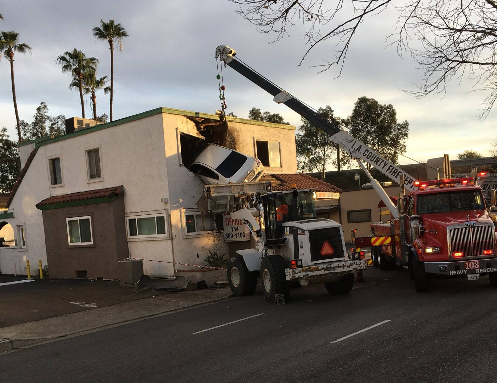 Santa Ana Auto Center >> Video shows moment car goes airborne, slams into 2nd floor of Calif. office | WTOP