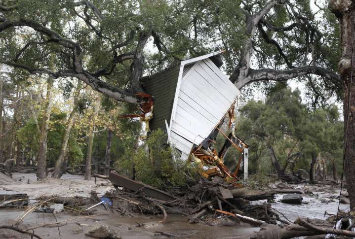 Death toll in California mudslides rises to 17