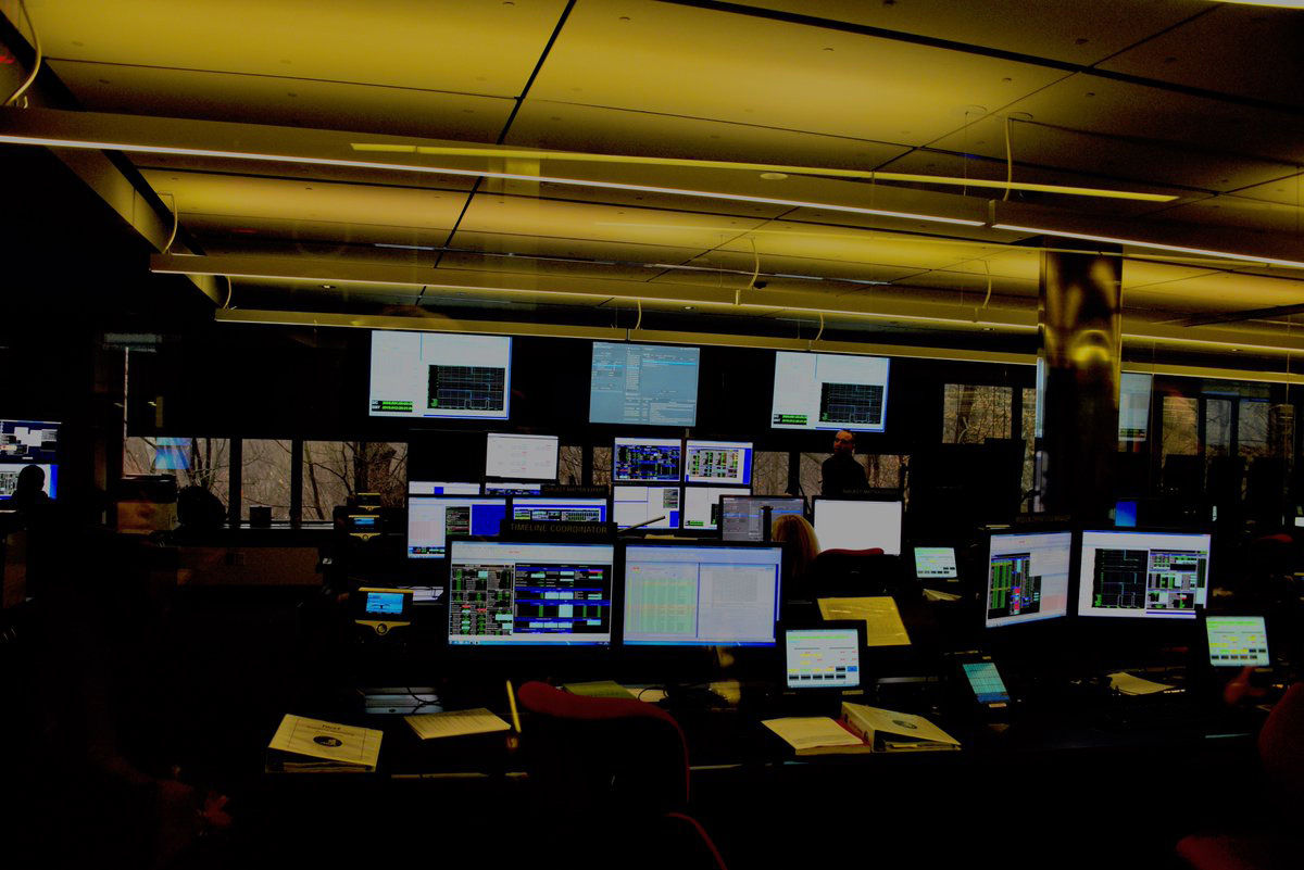 The flight control room for the James Webb Space Telescope. (WTOP/Greg Redfern)