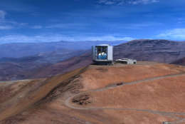 The Giant Magellan Telescope is under construction on a remote mountain top and is projected to begin commissioning in 2023. (Courtesy GMTO Corporation)