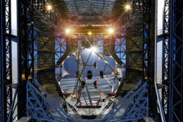 The Magellan Telescope will be indeed giant, as the seven mirror segments will act as a single mirror 24.5 meters, or 80 feet, in diameter. (Courtesy GMTO Corporation)