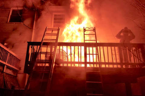 Montgomery Co. firefighters combat 2 fires, icy cold temps