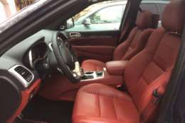 The Grand Cherokee is available for around $87,000 and it comes with a nicely equipped interior. The fully-loaded tester Parris chose came with a Signature Leather wrapped interior that really makes a jump in luxury. (WTOP/Mike Parris)