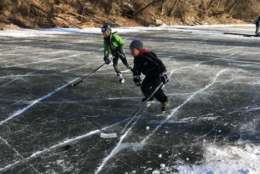 Skaters on the C&O Canal (WTOP/Michelle Basch)