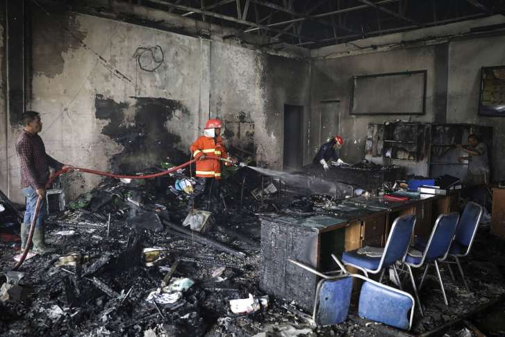 inmates riot set fires at prison in indonesia s aceh wtop