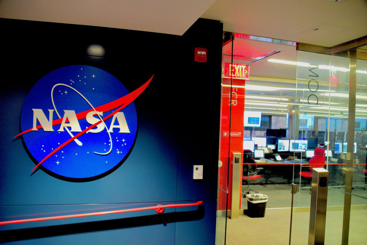 The entrance to the James Webb Space Telescope Mission Operations Centers. (WTOP/Greg Redfern)