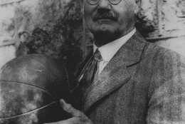 This is an undated photo of Dr. James Naismith, who invented the game of basketball in Springfield, Mass., in 1891.  (AP Photo)