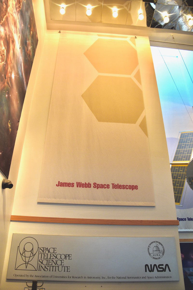 Even though James Webb Space Telescope won't launch until sometime in 2019 Space Telescope Science Institute is preparing to operate the telescope. (WTOP/Greg Redfern)