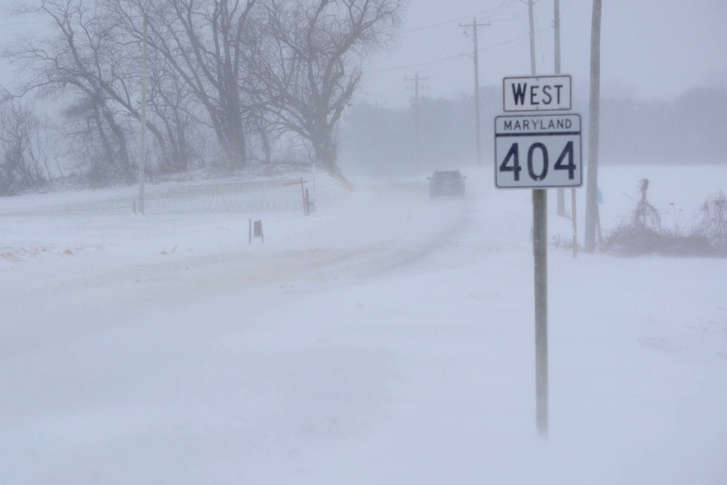 Blowing Snow Led To Near Whiteout Conditions On MD 404 Marylands Eastern Shore WTOP Dave Dildine