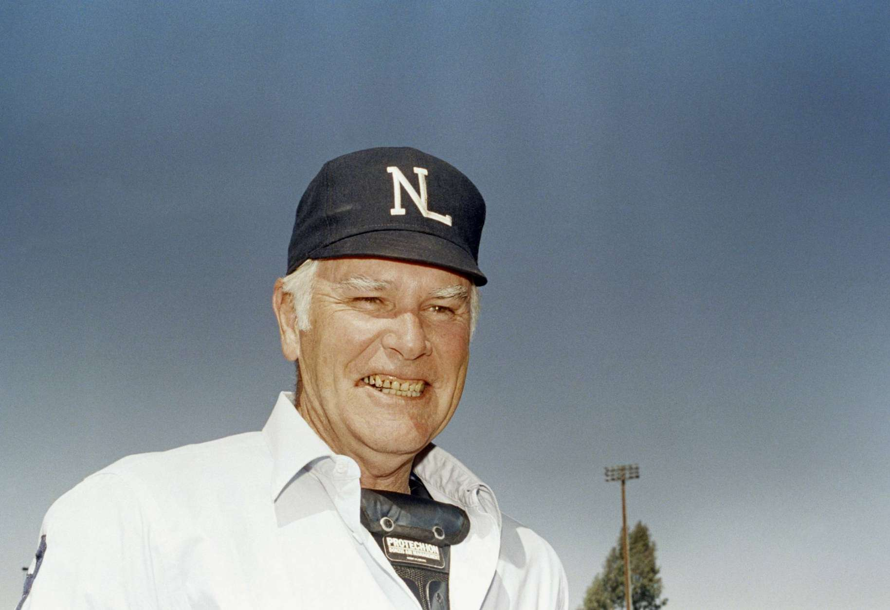 FILE- This 1989, file photo shows National League umpire Doug Harvey. Harvey, one of 10 umpires enshrined in the baseball Hall of Fame, died Saturday, Jan. 13, 2018. He was 87. (AP Photo, File)