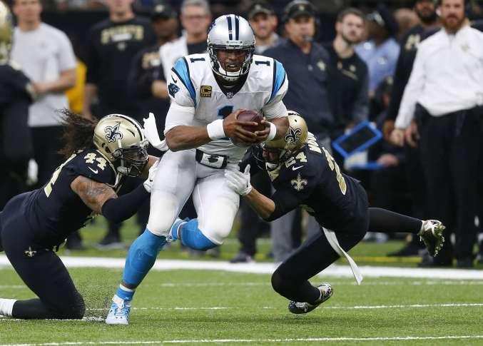 Saints hold off Panthers in NFC wildcard game