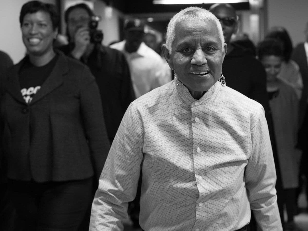 Peggy Cooper Cafritz, known for her contributions to the D.C. art scene and her tenure as D.C. School Board president died on Feb. 18 at 70-years-old from complications with pneumonia. (Courtesy Mayor Muriel Bowser via Twitter)