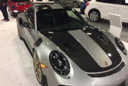 The $344,000 Porsche gt2rs goes 0 to 60 in less than two seconds. Pictured at the 2018 Washington Auto Show.  (WTOP/John Domen)