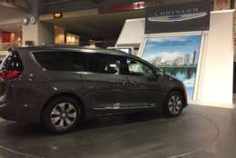 The first American hybrid minivan, the Chrysler Town and Country. Pictured at the 2018 Washington Auto Show. (WTOP/John Domen)