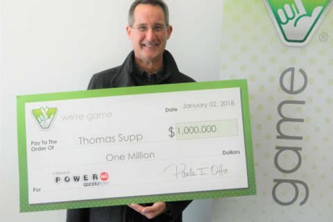 Loudoun Co. man wins $1 million in Powerball