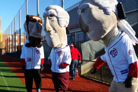 At the Racing Presidents tryouts, a chance for celebrity under a giant costume