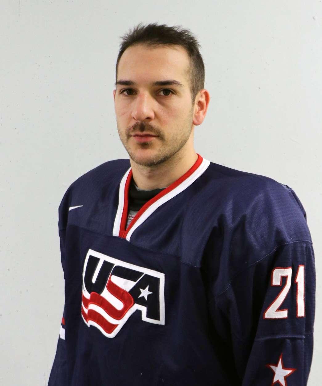 Headshot of Garrett Roe of Vienna, Va., center for USA Hockey.