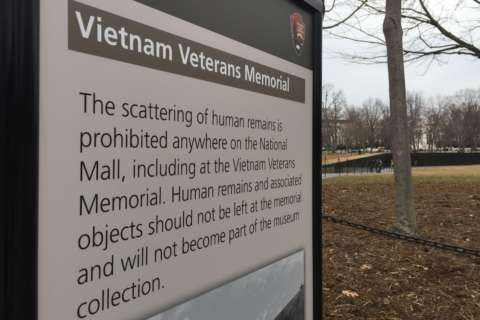 Solution found for cremated remains left at Vietnam Veterans Memorial