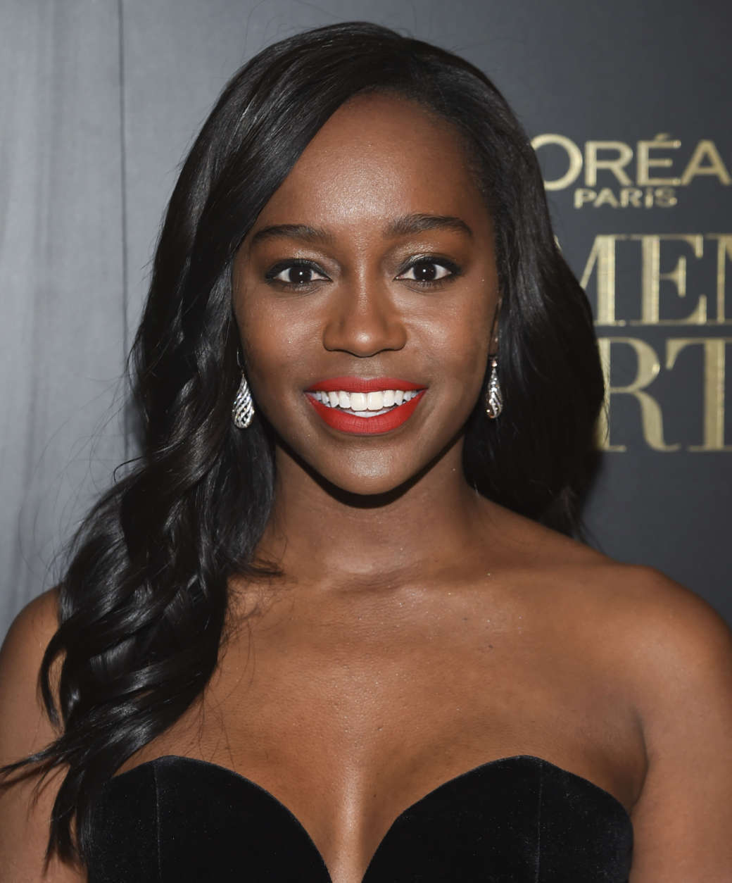 Actress Aja Naomi King attends the L'Oreal Women of Worth Awards at the Pierre Hotel on Wednesday, Dec. 6, 2017, in New York. (Photo by Evan Agostini/Invision/AP)