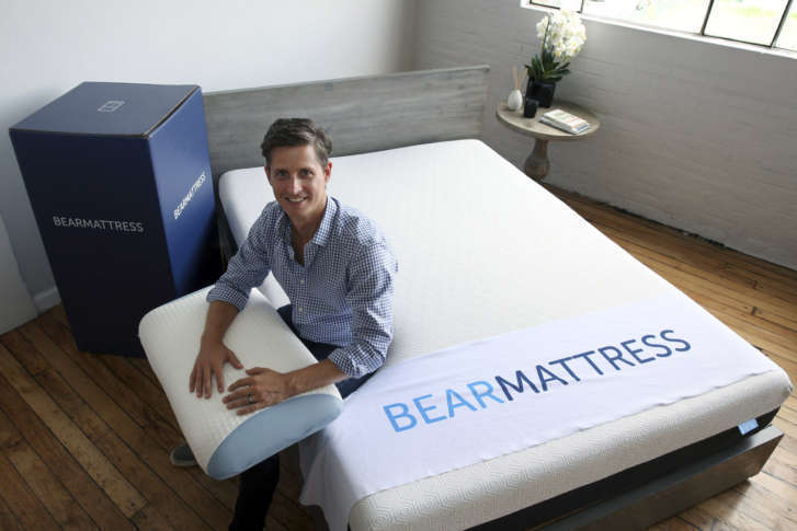 16 2016 photo scott paladini ceo of bear mattress sits with a sample bear mattress a newly designed pillow and a shipping box in the company showroom - Shipping A Mattress