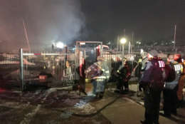 A fire broke out at a marina in Southwest D.C. (Courtesy D.C. Fire and EMS)