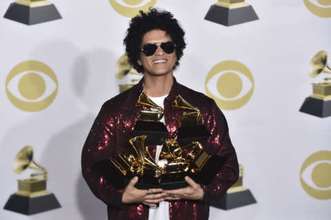 Bruno Mars sweeps the 60th annual Grammy Awards