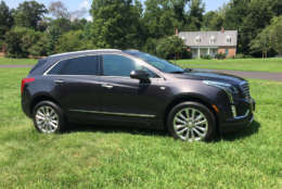 The new XT5 also has some neat styling on the side of the car with body lines that eschew the normal bland styling by adding cool shapes. (WTOP/Mike Parris)