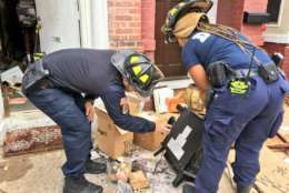 Hoarding makes it difficult for firefighters to extinguish flames and find occupants. (Courtesy D.C. Fire and EMS)