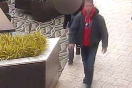 On Friday, Fairfax County police released images of a man wanted for questioning in the filming inside a Hollister fitting room located at the Fairfax mall Sunday afternoon. (Courtesy Fairfax County police)