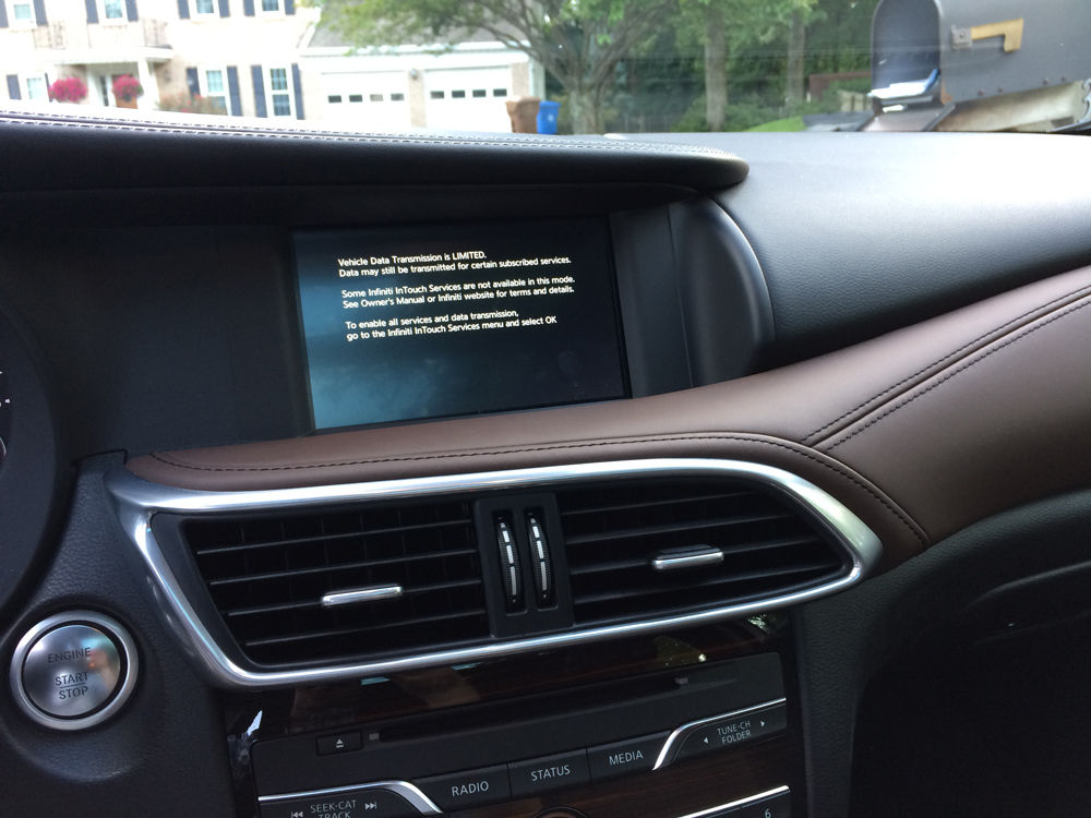Infiniti also added its own 7-inch touchscreen which works well and is easy to use. (WTOP/Mike Parris)