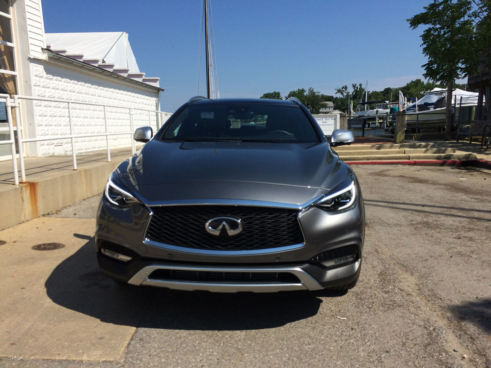 The exterior styling is also all Infiniti with more edgy styling, more curves and interesting shapes. (WTOP/Mike Parris)